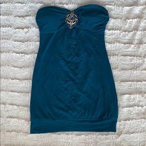 Strapless mini dress top